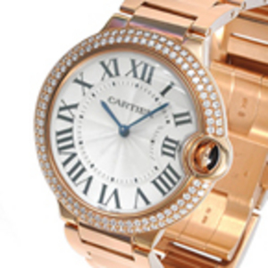 Replica Cartier Ballon Bleu Diamonds Rose Gold Midsize WE9005Z3