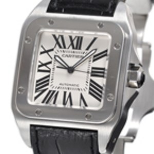 Replica Cartier Santos 100 Steel Automatic Replica Watch W20073X8